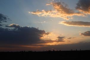Sunset in Yadan Geopark