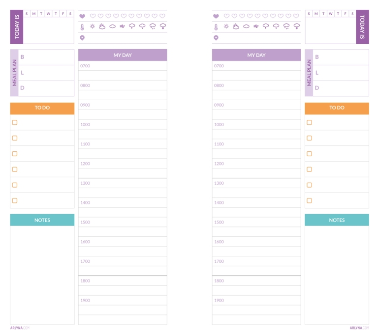 Daily Planner Page | Perpetual
