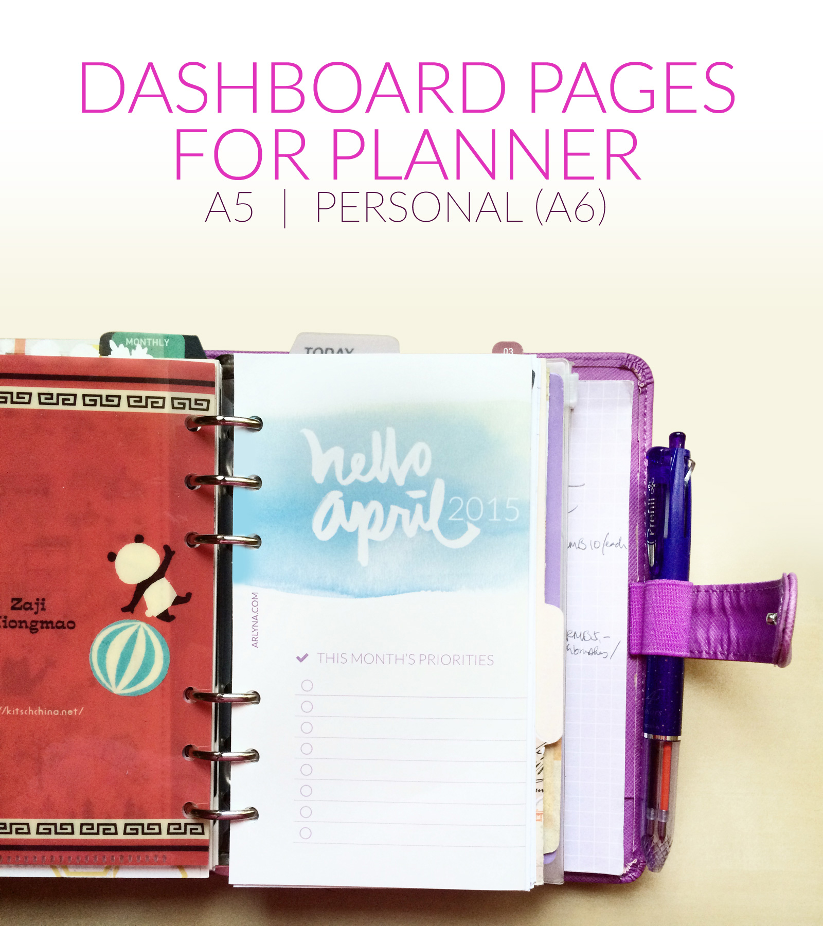 Printables dashboard pages for planner a bloggism for What is a planner dashboard