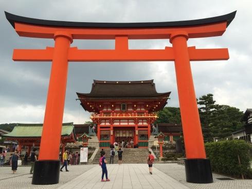 First stop at the Fushimi-Inari