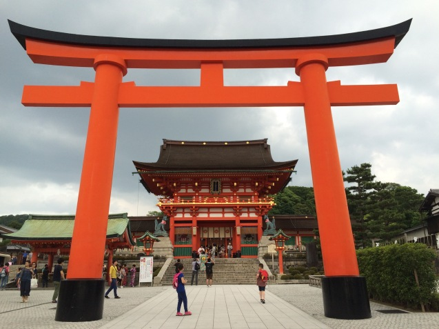 First stop at the Fushimi-Inari