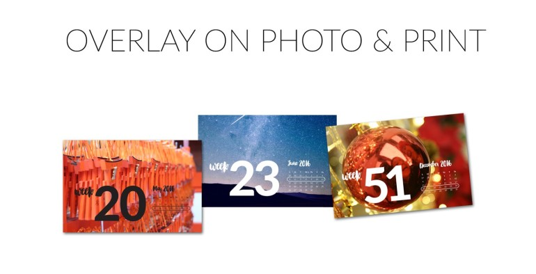 Weekly Title Cards overlay on photos