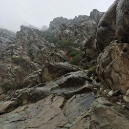 Famouse rock carvings in Helan Mountains