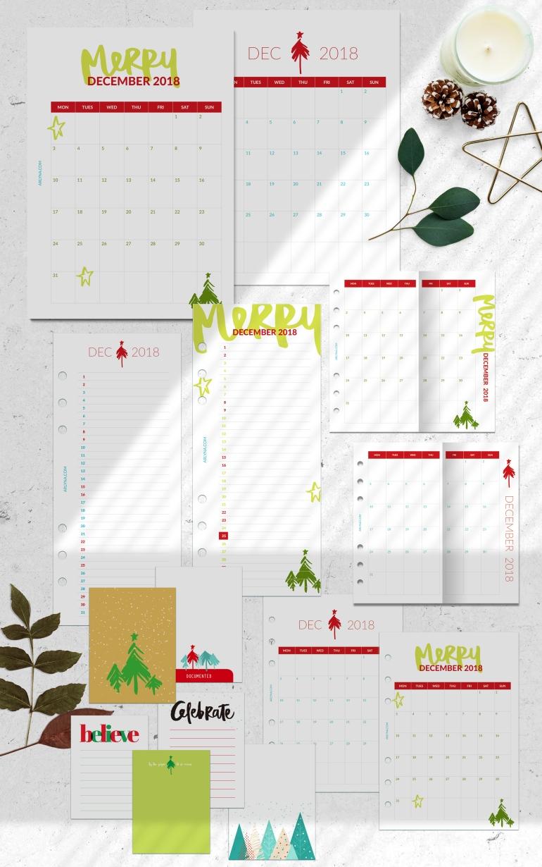 arlyna.com printable for December